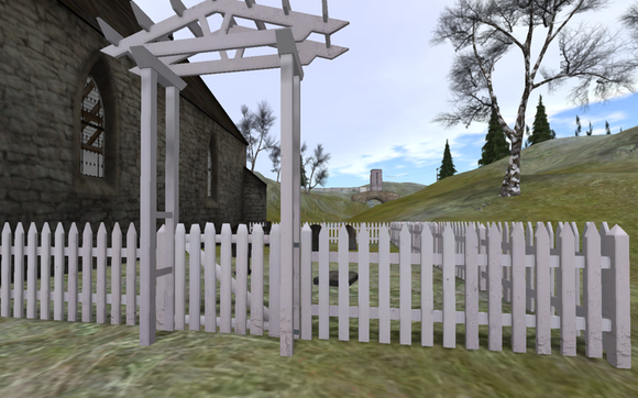 Garden Fence in-world with gate